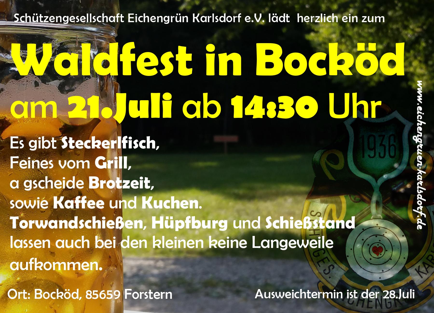 Waldfest am 21.Juli 2019